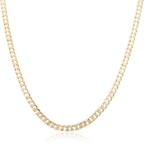 6mm Goldtone Frosted Cuban Chain