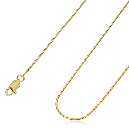 925 Sterling Silver Goldcolored 1mm 8...