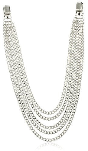 Silvertone Jean Chain with 5 Layered...