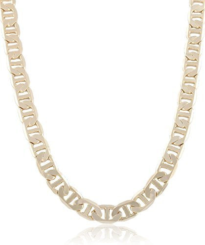 Goldtone 9mm Flat Mariner Chain