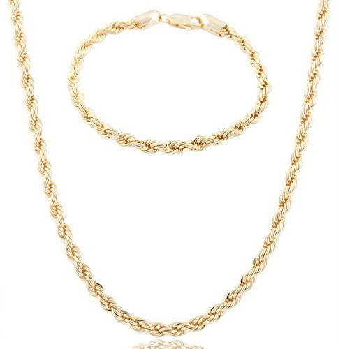 Goldtone 6mm Diamond-Cut Rope Chain Jewelry...