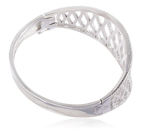 925 Sterling Silver Fancy Bridal Bangle...