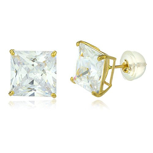 10k Yellow Gold Square Basket Setting...