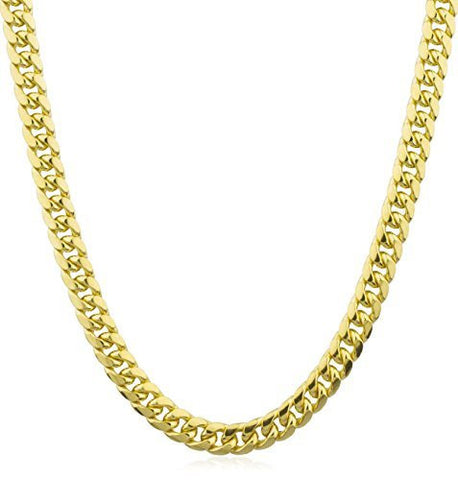 "14k Gold 7.4mm Miami Cuban Chain - 9"" & 28"" Available"