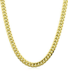 14k Gold 7.4mm Miami Cuban Chain 28 Inch Necklace