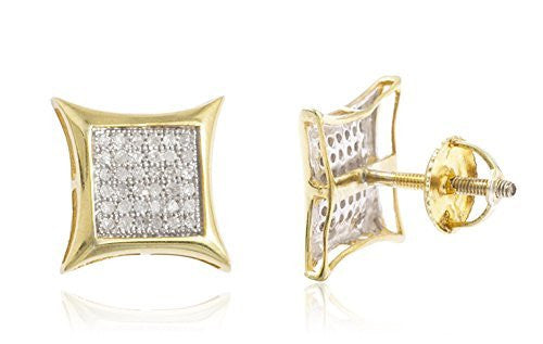 Sterling Silver Stud Earrings Vermeil 1/4...
