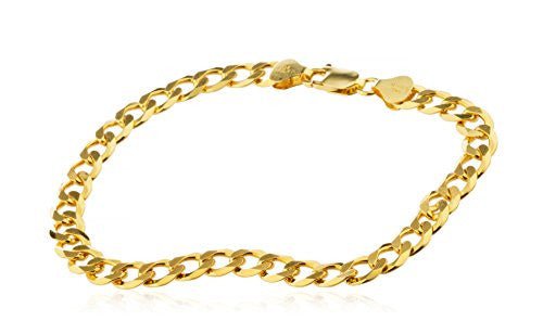 925 Sterling Silver Goldtone 7mm 8.5...