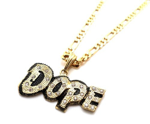 Small Goldtone Iced Out
