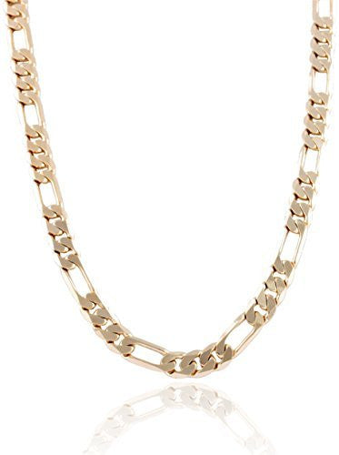 Goldtone 9mm Flat Figaro Chain