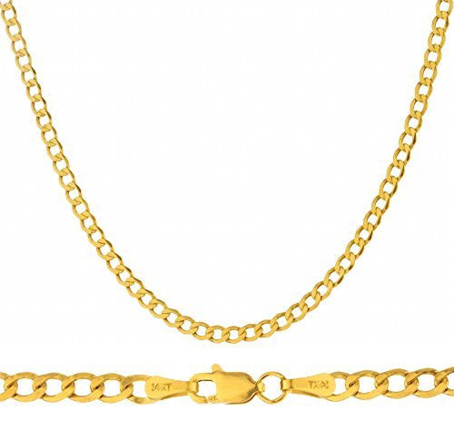 "14K Yellow Gold 3.3mm Cuban Chain - 18"" 20"" & 22"" Available"