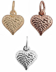 2 Pieces of Small Gold Overlay Three in One Set Gold, Rosegold, and Silver Mini Heart - Two Year Warranty