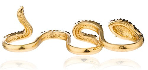 Goldtone 4 Finger Snake Cuff Ring...