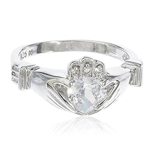 925 Sterling Silver Irish Claddagh Style...