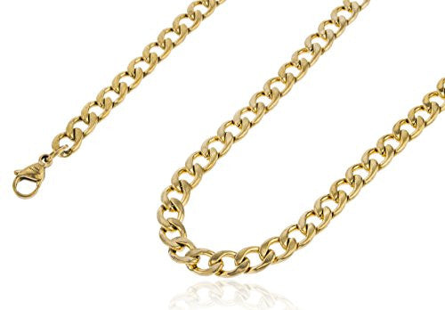 Stainless Steel Goldtone Plated 8mm 24...