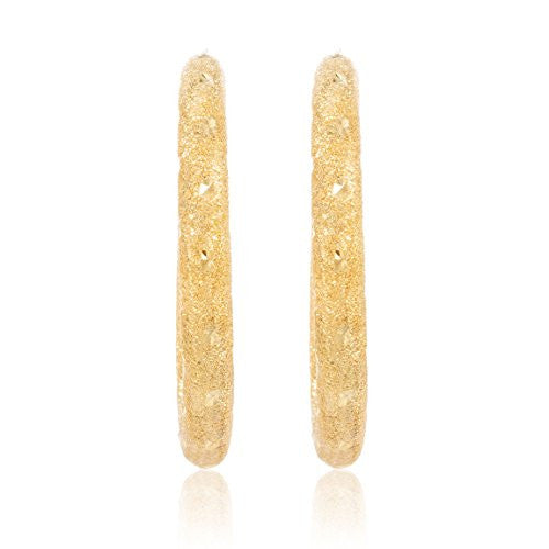 Pair of 10K Yellow Gold Hoop...