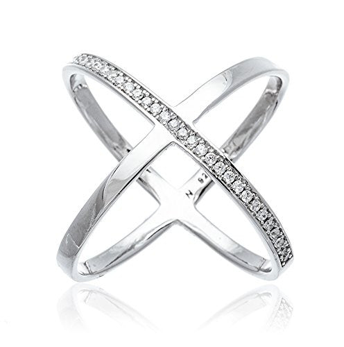 925 Sterling Silver Bold Criss Cross...