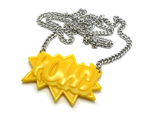 Yellow Homica POW! Pendant with a...