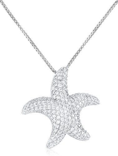 925 Sterling Silver Starfish Pendant with...