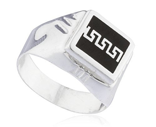 925 Sterling Silver Greek Key Link...