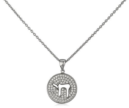 925 Sterling Silver Chai Pendant with...