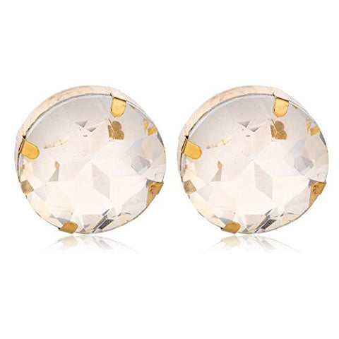 2 Pairs of Goldtone 'Crystal Clear' Round Cylinder Earrings