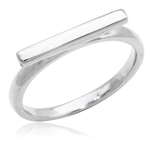 925 Sterling Silver Bar Finger Ring...