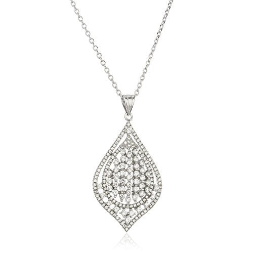 925 Sterling Silver Crystal Chandelier Pendant...