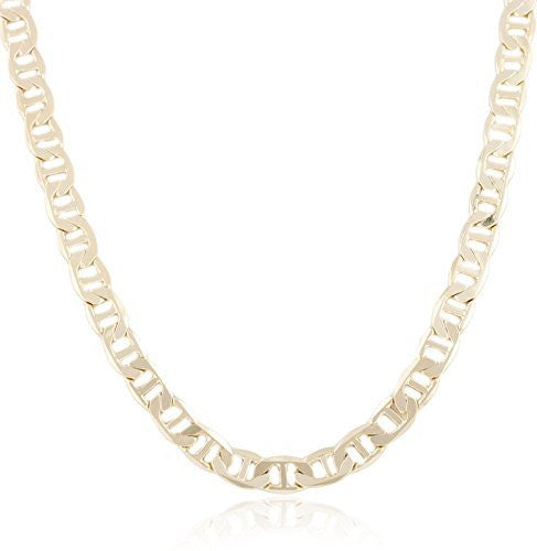 Goldtone 8mm Flat Mariner Chain