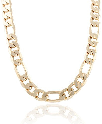 Goldtone 12mm Flat Figaro Chain