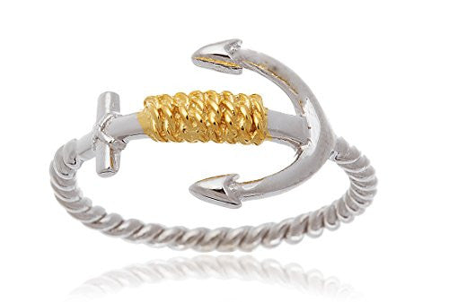 925 Sterling Silver Two-tone Rope and...