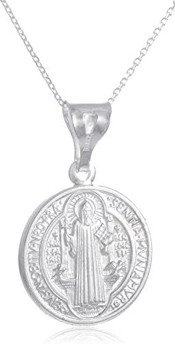925 Sterling Silver Saint Benedict Reversable...