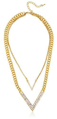 Goldtone Double Layer Iced Out
