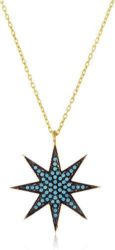 925 Sterling Silver North Star Pendant...