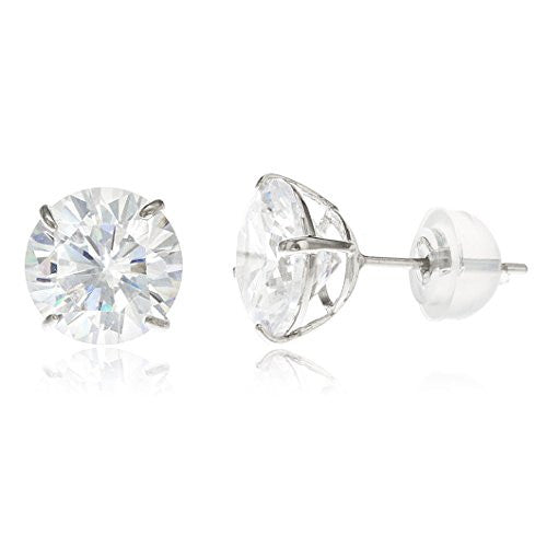 c4a20c6a7 ... CZ Stud Earrings with Silicone Back. No reviews. 14k White Gold Round  Basket Setting.