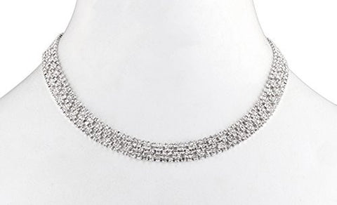 Ladies Bridal Fancy Thin Design Adjustable Choker Necklace