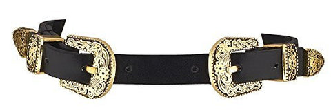 Antique Goldtone Adjustable Faux Leather Belt Style Choker