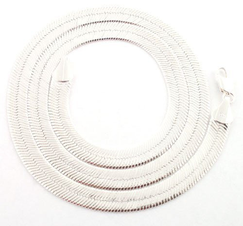 Silvertone 11mm Brass Herringbone Chain -...