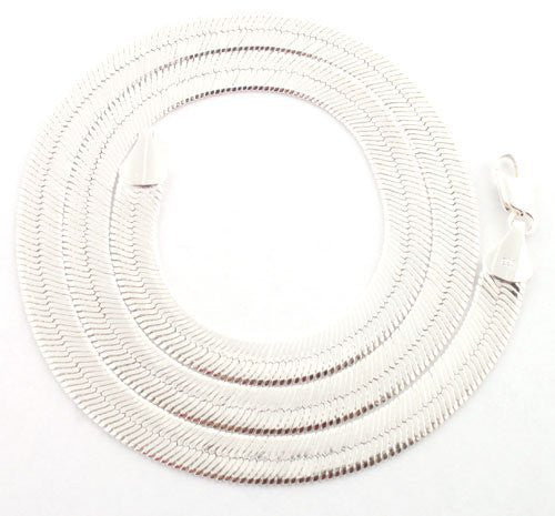 Silvertone 11mm Brass Herringbone Chain - Available in all Lengths