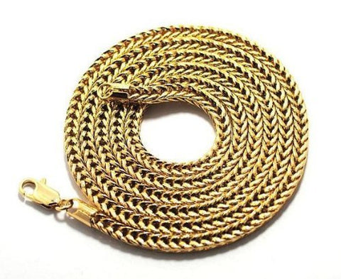 Goldtone 36 Inch Franco Chain Necklace Good Quality