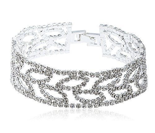 Ladies Iced Out Fancy Leaf Bracelet...