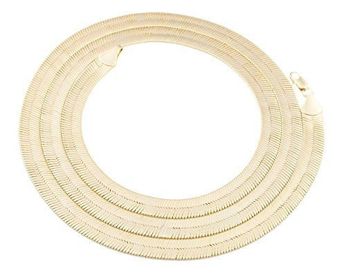 Goldtone 9mm Brass Herringbone Chain -...