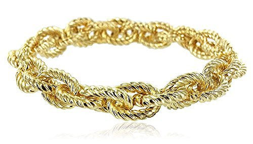 Textured Link Stretch Bracelet