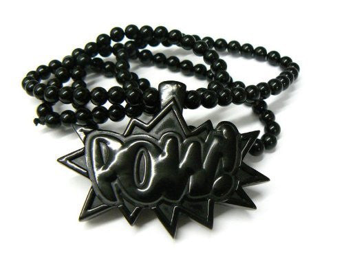 Black Homica POW! Pendant and 36...
