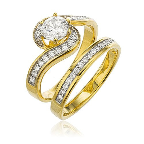 925 Sterling Gold Plated with Cz...