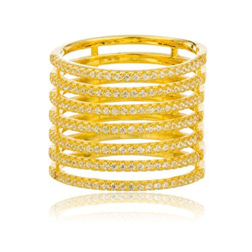 Sterling Silver Goldtone Layered Finger Ring...