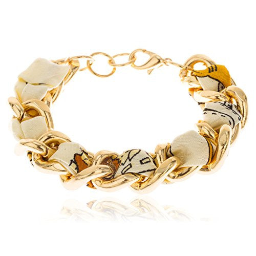 Goldtone with Multicolor 7 Inch Adjustable...