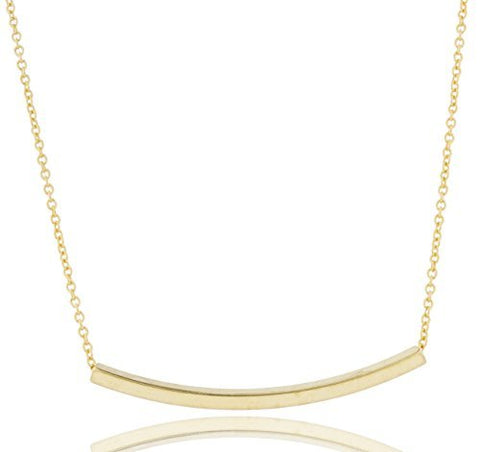 2 Pieces of Goldtone Bar Adjustable 16 Inch Link Chain Necklace