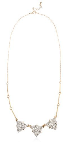 Goldtone Link and Bar Necklace with...