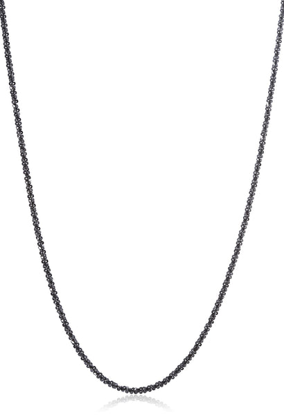925 Black Rhodium Plated Silver 1.7mm Swirl Rock Chain- 16 18 And 20 Available
