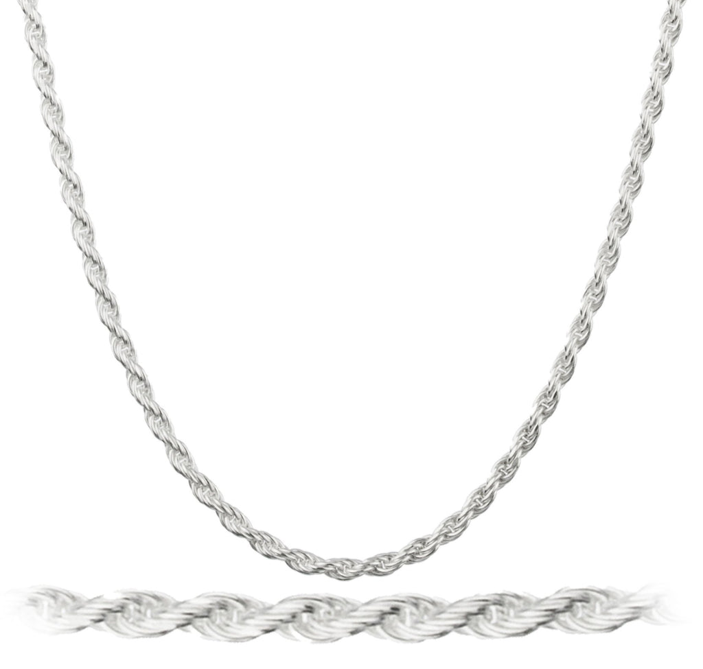 925 Italy Sterling Silver 2mm Rope...